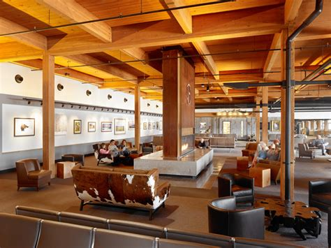 gensler structures jackson hole airport  wood trusses
