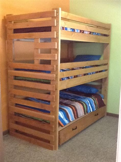 Triple Bunk Bed With Trundle Attainable Home Bunk Bed Plans With Storage