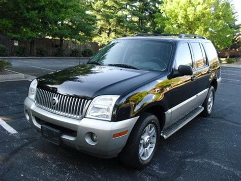 auto air conditioning repair 2003 mercury mountaineer seat position control buy used 2003 mercury mountaineer luxury awd 3rd row seats leather roof cd no reserve in