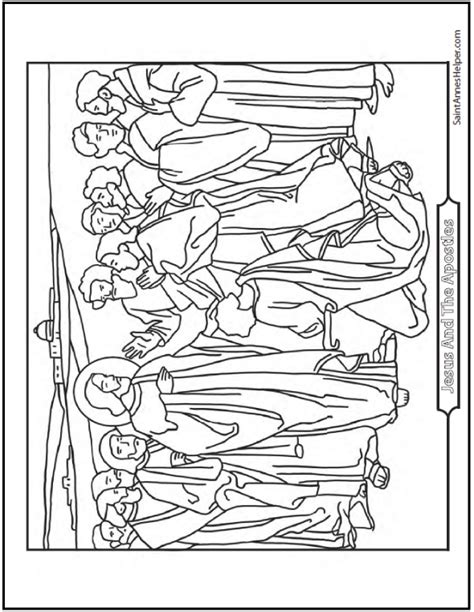 Coloring Page 12 Disciples by 12 Apostles Of Jesus Coloring Page