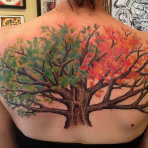 tattoo nation stone oak my white oak tree with all seasons tattoo tattoos