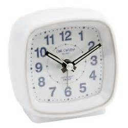 white bedroom alarm clock silent sweep no ticking light