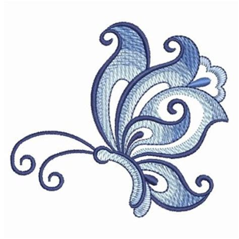 embroidery design creator white blue butterfly embroidery designs machine