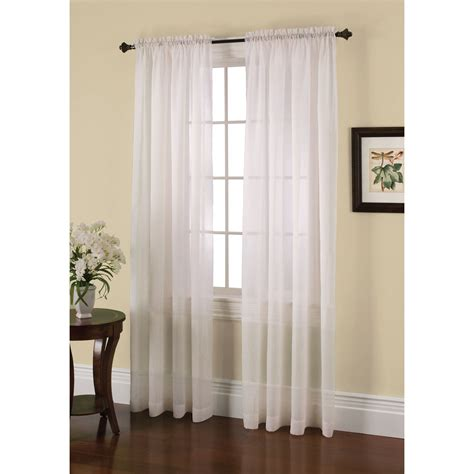 crushed sheer voile curtains jaclyn smith crushed voile window panel