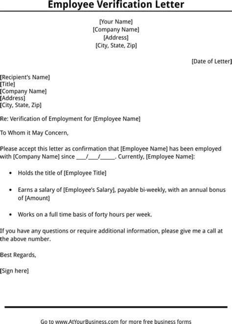 10 Employee Verification Letter Exles Pdf Word Employment Verification Template