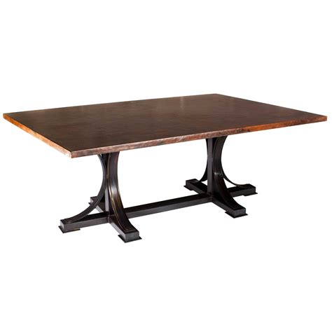copper top tables pictured here is the winston rectangle dining table with