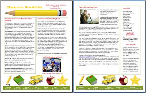school newsletter templates for word 10 awesome classroom newsletter templates designs