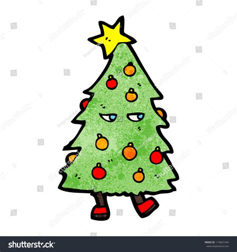 dancing christmas tree picture tree stock vector 119667244