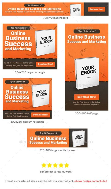 Ebook Banner Ad Template By Admiral Adictus Graphicriver Banner Ad Templates Free