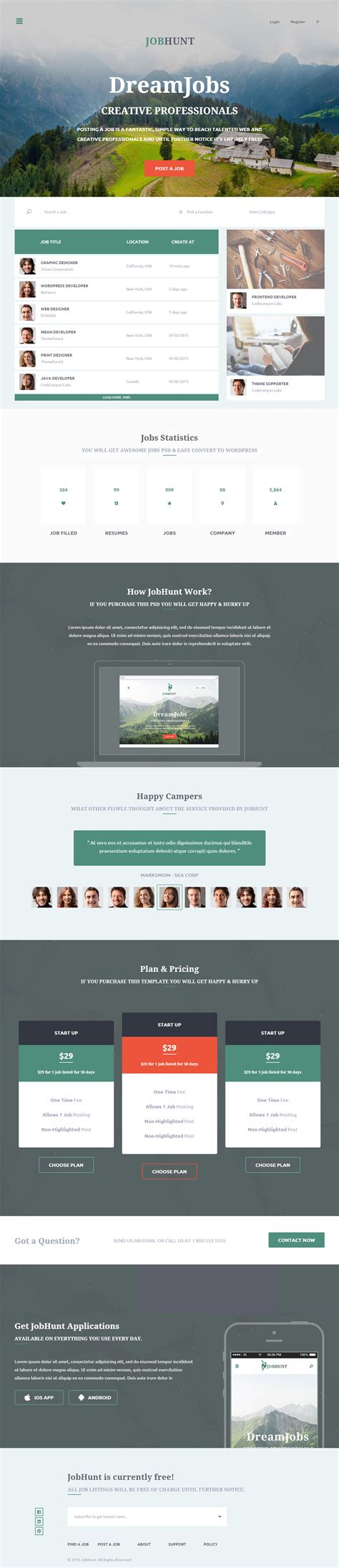 135 best responsive parallax scrolling html5 templates