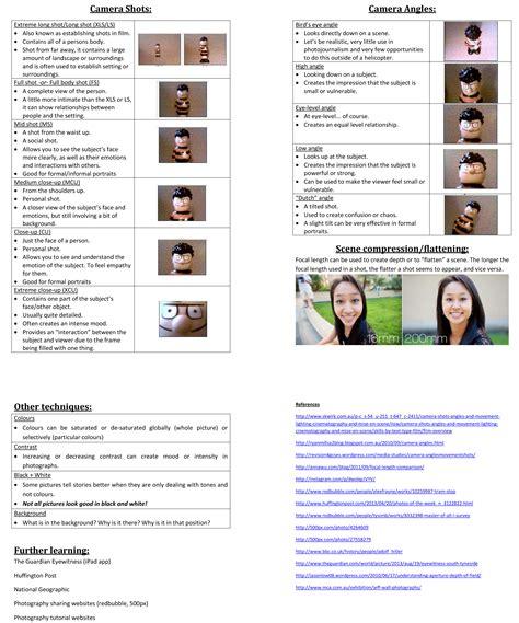Photography Worksheets by Photography Worksheets Bluegreenish