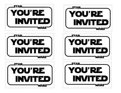 wars templates wars invitations theruntime