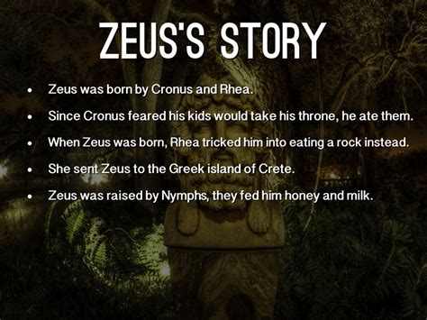 who was story zeus by seggerman