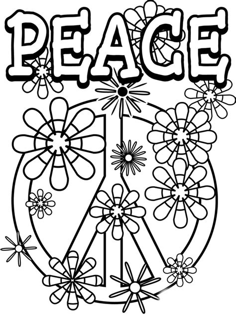 mandala peace day coloring pages