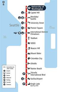 Seattle Light Rail Map by Uw Amp Capitol Hill Light Rail Stations Open On Saturday