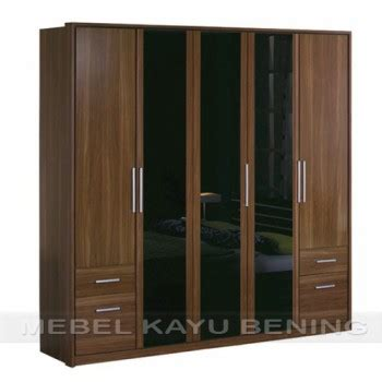 Lemari Pakaian Stainless lemari pakaian 5 pintu kayu jati model minimalis borneo