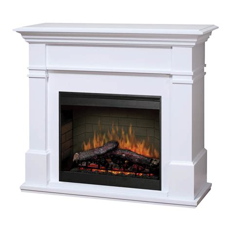 kenton white 2kw electric fireplace with mantel