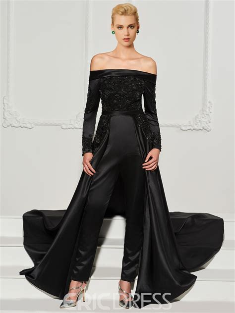 Jumpsuit Dress ericdress sleeve the shoulder beaded prom
