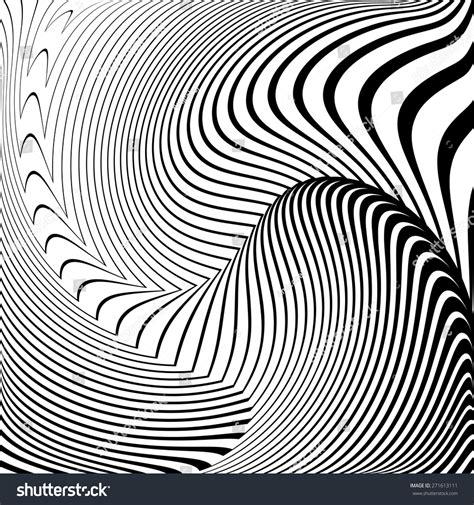 pattern distortion vector design convex textured background abstract lines stock
