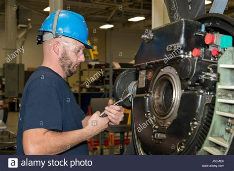 Jet Engine Mechanic by Standard T Stock Photos Standard T Stock Images Alamy