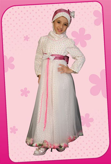 Dress Pesta Import Anak Pink baju muslim pesta