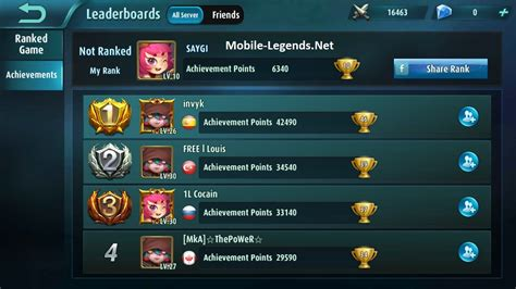mobile legend rank which server is mine 2018 mobile legends