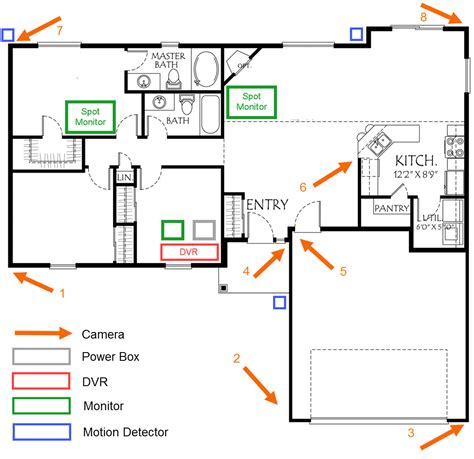 house wiring diagram security cameras 4 to for