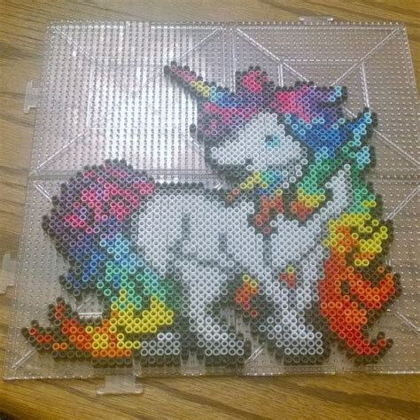 unicorn perler pattern rainbow unicorn perler beads by plurlife plurvibes