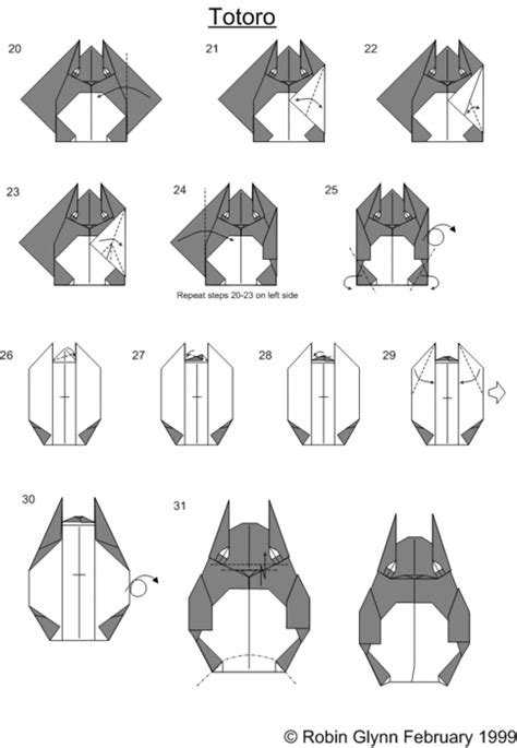 Origami Wolf Step By Step - captainsonic totoro origami