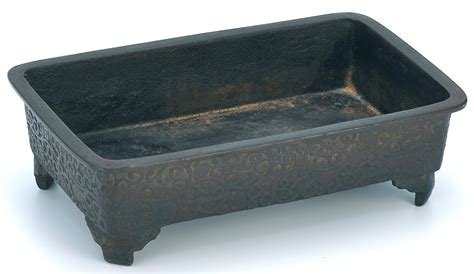 Bowl Garden Box by Busacca Gallery Cast Iron Japanese Jardiniere Bonsai