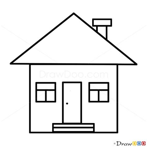 drawing a house how to draw house kids draw