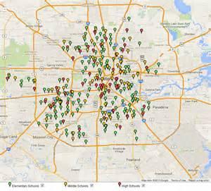 houston isd map of schools
