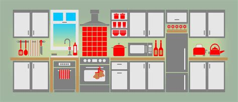 Kitchen Cabinet Tools Parts Of The House Kitchen Clipart 2 Wikiclipart