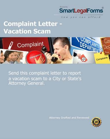 Complaint Letter Vacation Employment Smartlegalforms