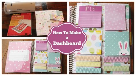 build a planner how to make a dashboard for your erin condren life