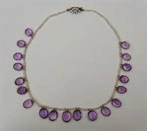 Victorian jewelry at vintage textile 4045 amethyst necklace