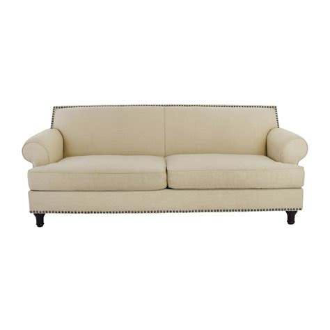beige leather sofa bed couch with studs brown leather couch with studs