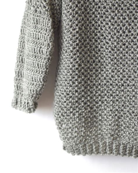 is crochet or knitting easier how to make an easy crocheted sweater knit like