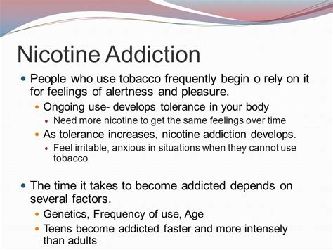 How Does It Take To Detox From Nicotine by Chapter 16 Tobacco Ppt