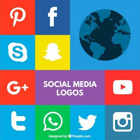 imagenes de redes sociales gratis logos de redes sociales coloridos descargar vectores gratis