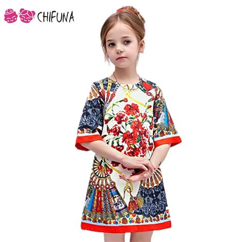 pattern a line dress toddler 2 10y baby girl dress floral pattern a line princess dress