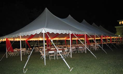 party people event decorating company tent organza swags