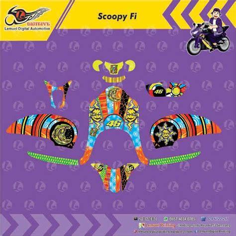 Striping Decal Scoopy Fi 10 best bike images on sticker decal and decals