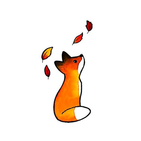 cute tiny fox tattoo design