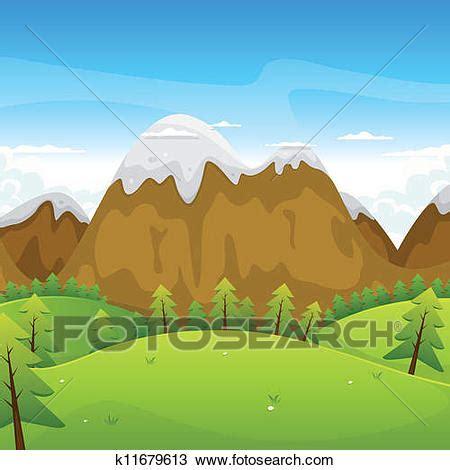 clipart montagna clipart cartone animato montagne paesaggio k11679613