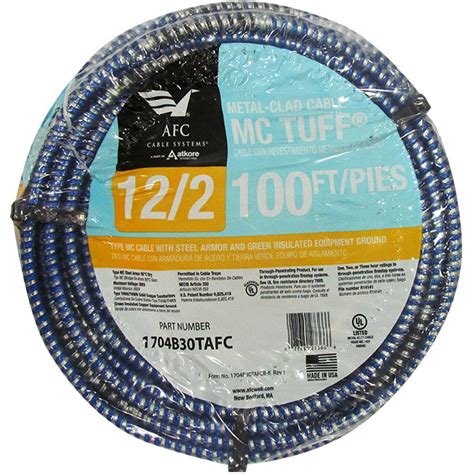 100 12 2 mc cable southwire 12 2 x 8 ft solid cu mc metal clad armorlite