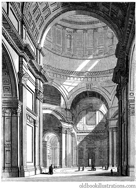 interior  saint pauls cathedral  book illustrations