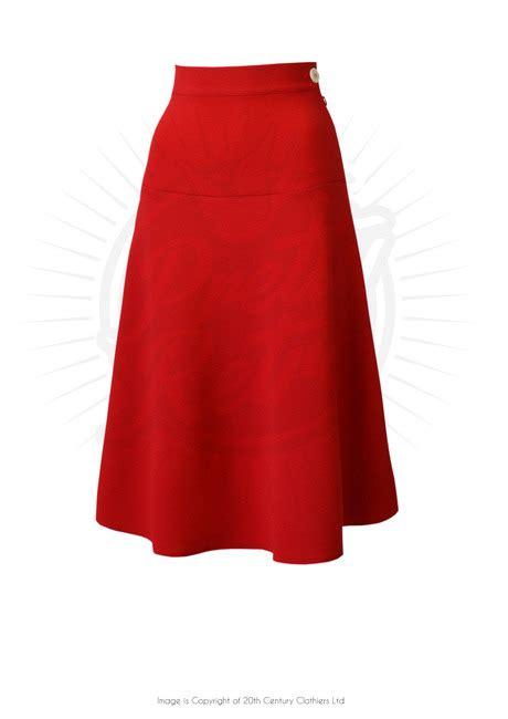 red swing skirt pretty 1940s swing skirt in red