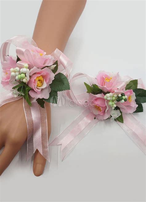bracciali con fiori bracciali con fiori per damigelle ft41 pineglen