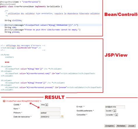 bean validation pattern list localization with bean validation in jsf